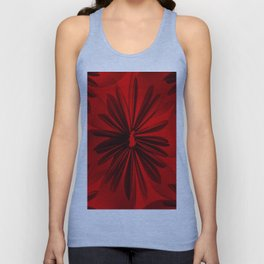 Red Origami Flowers #decor #society6 Unisex Tank Top