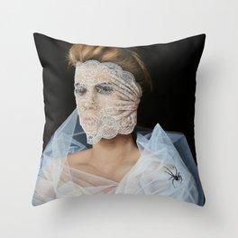 The White Widow Throw Pillow