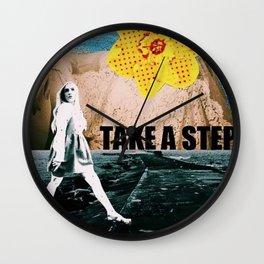 Take a step Wall Clock