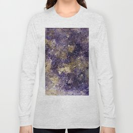 Writings in the Sky the Night Galaxy watercolor by CheyAnne Sexton Long Sleeve T-shirt
