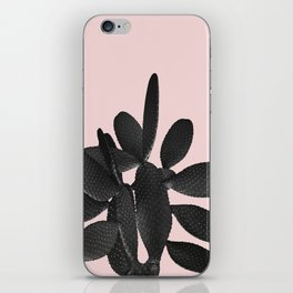 Black Blush Cactus #2 #plant #decor #art #society6 iPhone Skin