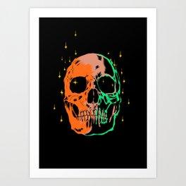 Space skull v1 Art Print