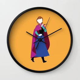 Anna from Frozen - Princesses series Wall Clock