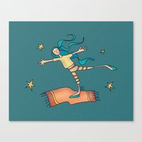freedom Canvas Prints featuring Freedom by Catru