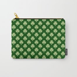 Shamrock Clover Polka dots St. Patrick's Day green pattern Carry-All Pouch