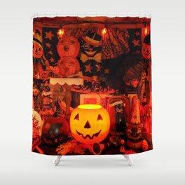 A Very Vintage Halloween Shower Curtain