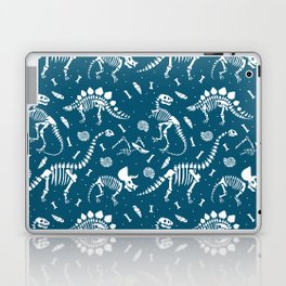 Dinosaur Fossils in Blue Laptop & iPad Skin