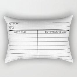 Library Due Date Card Rectangular Pillow