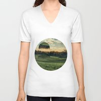 jelly fish V-neck T-shirts featuring Jelly Fish Fields by Kevin Richetelli