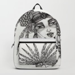 JennyMannoArt Graphite Drawing/Aiyana Backpack