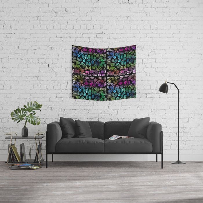 Colorful branches and leaves 1 Wall Tapestry