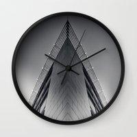triangle Wall Clocks featuring triAngle by Dirk Wuestenhagen Imagery