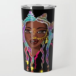 The Black Unicorn - Rainbow Edition Travel Mug