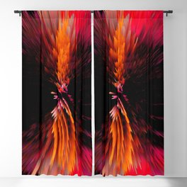 glitch feathers Blackout Curtain