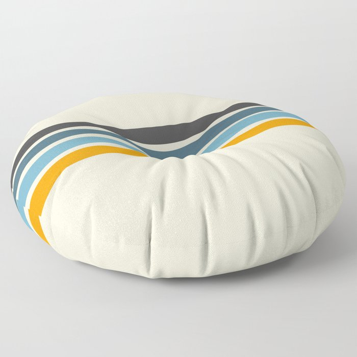 Vintage Retro Stripes Floor Pillow