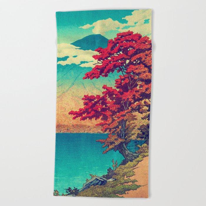 The New Year in Hisseii Beach Towel