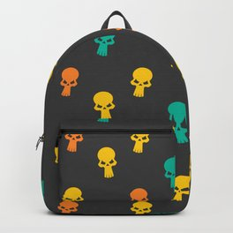 Halloween Seamless Skull Pattern Backpack