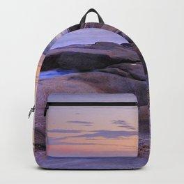 Purple Sunset At Vela Blanca Tower Backpack