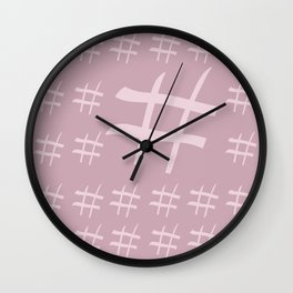 Digital hash tags Wall Clock