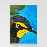 kentucky Stationery Cards featuring Kentucky Warbler  by Art by Peleegirl
