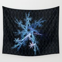 snowflake Wall Tapestries featuring Snowflake by MG-Studio