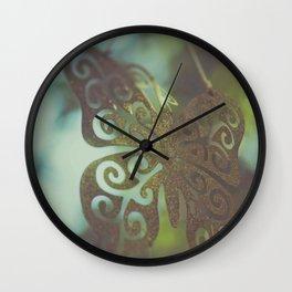 Bokeh With Butterfly Wings Wall Clock