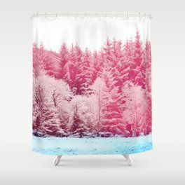 Candy pine trees Shower Curtain