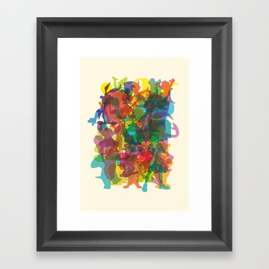 50 famous characters (solid) Framed Art Print