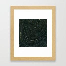 Black and Gold Framed Art Print