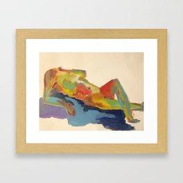 Female Silhouette Framed Art Print