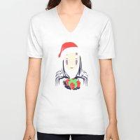 chihiro V-neck T-shirts featuring Kaonashi's trap! by Puddingshades