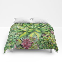 Watercolour Succulents Comforters