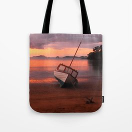 Beached yacht Tote Bag