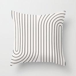 Minimal Line Curvature I Throw Pillow