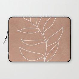 Engraved Leaf Line Laptop Sleeve