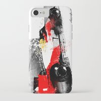 senna iPhone & iPod Cases featuring AYRTON SENNA MP4-4 by Michele Leonello