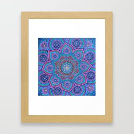 Gem's Mandala Framed Art Print