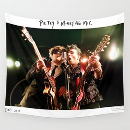 Birds in the Boneyard, Print One: Petey and Mikey on the Mic Wall Tapestry