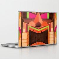 tiki Laptop & iPad Skins featuring Tiki by Cimone Key