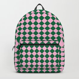 Cotton Candy Pink and Cadmium Green Diamonds Backpack