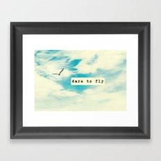 Dare to Fly II Framed Art Print