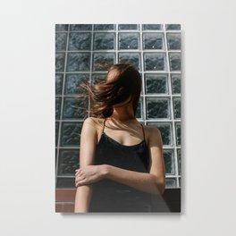 Windy Lady Metal Print