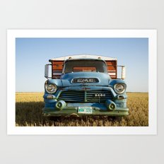GMC Grain Truck 2 Art Print