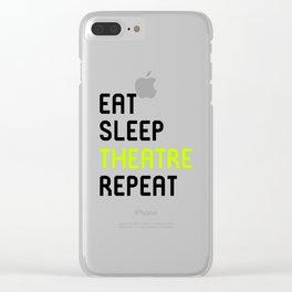 Eat Sleep Theatre Thespian School Clear iPhone Case