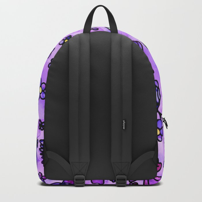 Blue Small Flowers Backpack
