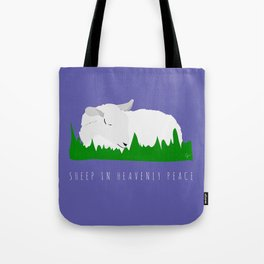 Sheep in Heavenly Peace Tote Bag