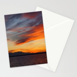 marvelous sunset over the sea Stationery Cards
