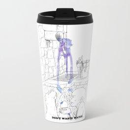 Don't waste water Metal Travel Mug