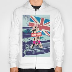 Vintage Censored Hot Girl with mixed art Hoody