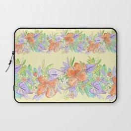 hawaiian tropical flowers yellow Laptop Sleeve